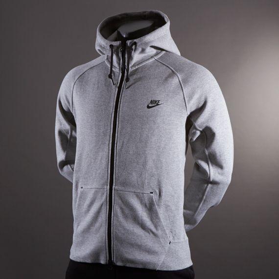 Nike Tech AW77 FZ Hoody-1.0 - Dark Grey Heather/Black
