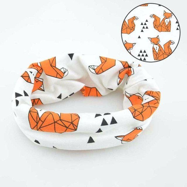 Cartoon Animal Printed Owl Scarf For Baby Boy Girl O Ring Collar Children Cotton Soft Warm Scarf Children Autumn Spring shawl