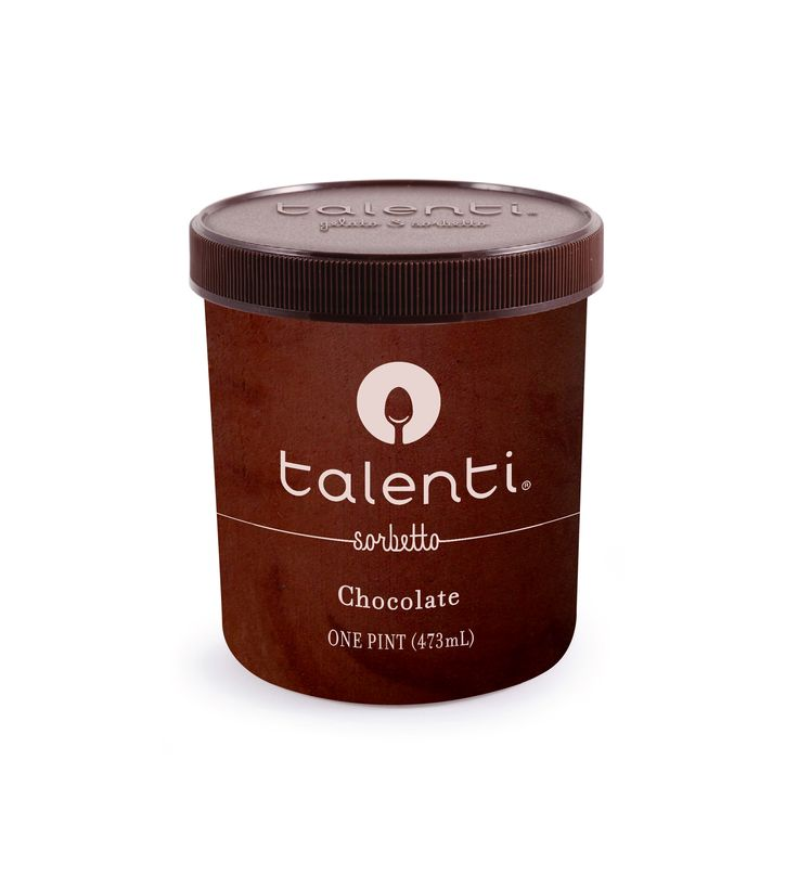 Talenti Chocolate sorbetto. We took everything we loved about our deepest chocolate gelato and took out the milk. Turns out, chocolate is pretty amazing on its own in this super-smooth, low-fat cocoa sorbetto.