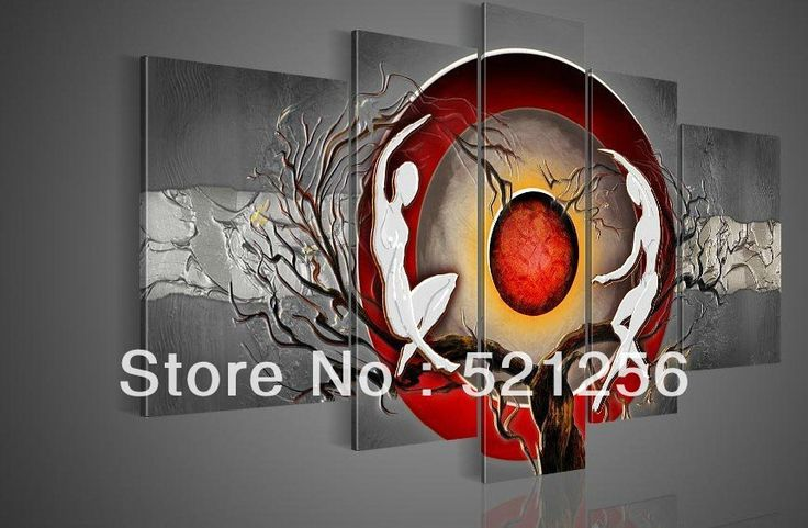 Free Shipping Handpainted Wall Art Abstract Group Triptych Modern Oil Painting BLA170-in Painting & Calligraphy from Home & Garden on Aliexpress.com | Alibaba Group
