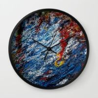Water Wall Clock  Keep time with stylishly designed wall clocks.