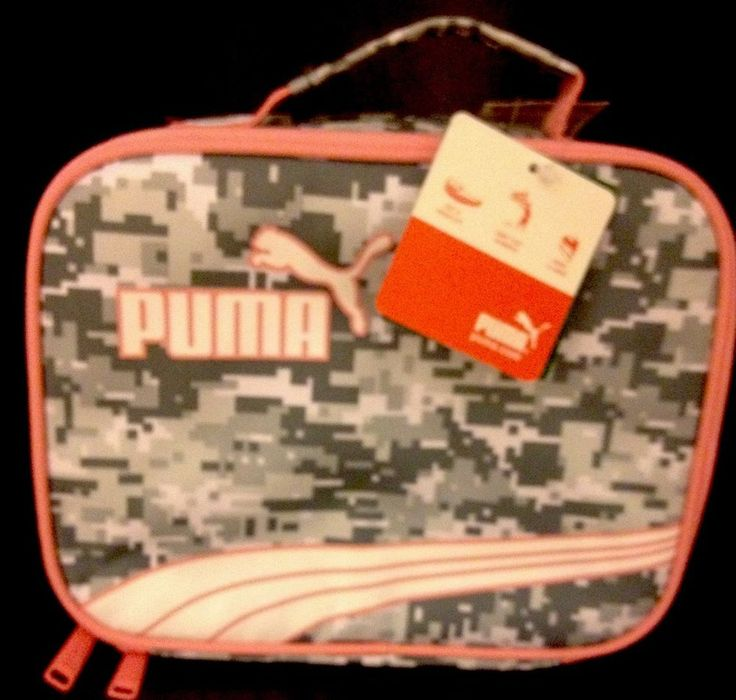 New Puma Digi Camo Insulated Lunch Box Cooler Pink Gray Athlete Sports | eBay