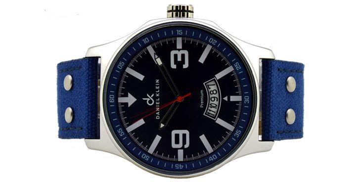 ΑΝΔΡΙΚΟ ΡΟΛΟΙ DANIEL KLEIN 10486-3,μηχανισμός Quartz miyota japan,αδιάβροχο 3 atm,εγγύηση 2 χρόνια,διάμετρος καντράν 48 mm,μαύρο με μπλε ενδείξεις.