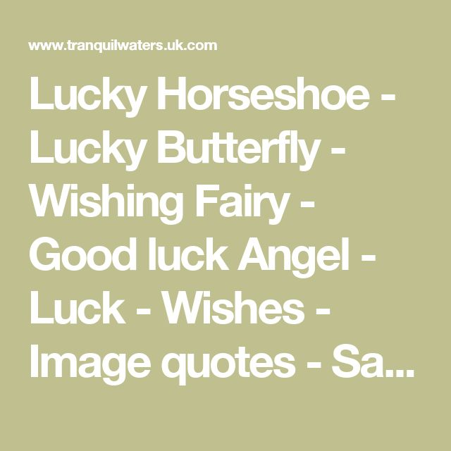 Luck Quotes: 25+ Best Ideas About Good Luck Wishes On Pinterest