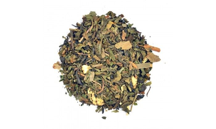 Lemon Ginger Herbal Tea: This herbal loose leaf tea will help you cope with your cold or flu symptoms.  Soothes and refreshes to help you through your day! Ingredients: Ceylon green, Peppermint, Cinnamon, Ginger, Gingko, Lemon peel, Cloves and Caraway.
