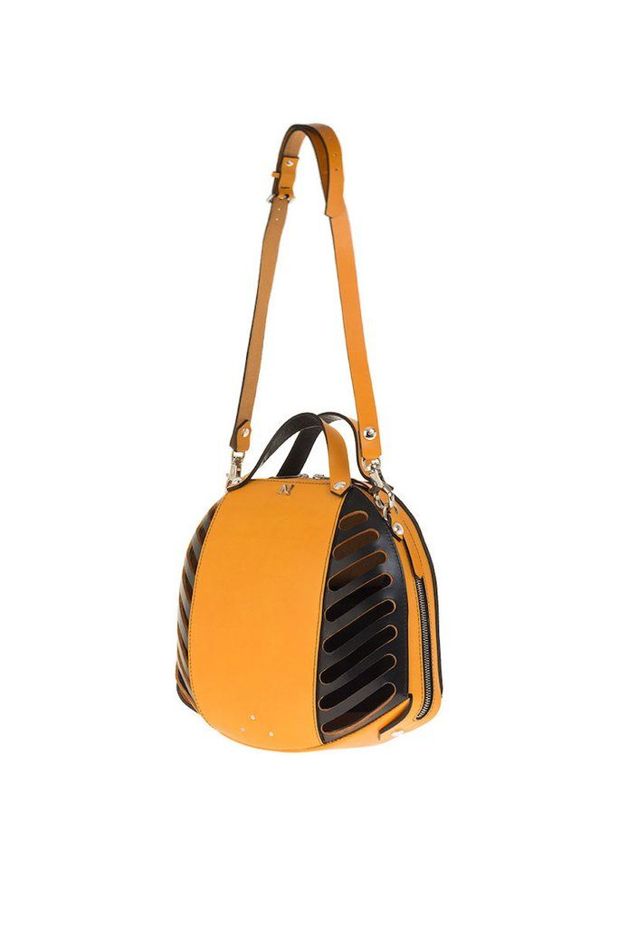 Orange Bee Leather Handbag Nicolas Theil - Nicolas Theil