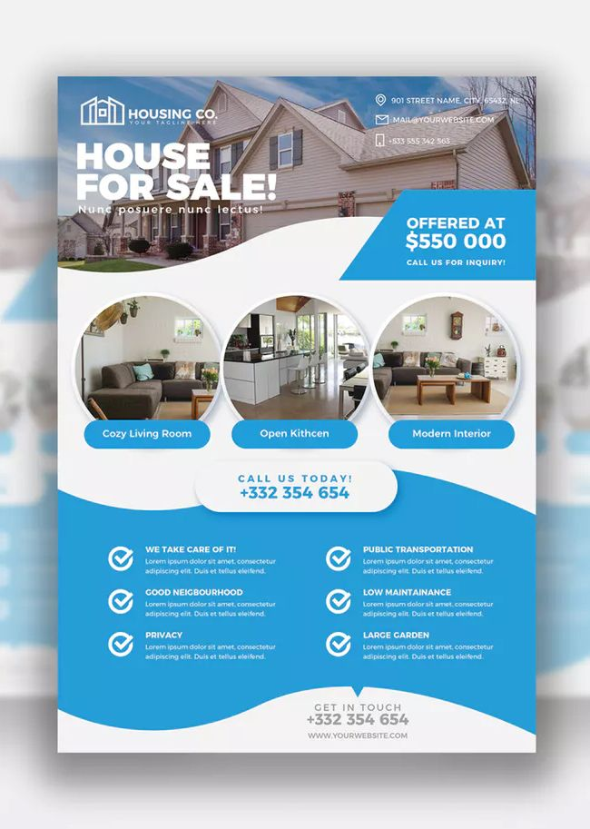 real estate flyer print template psd download flyer templates