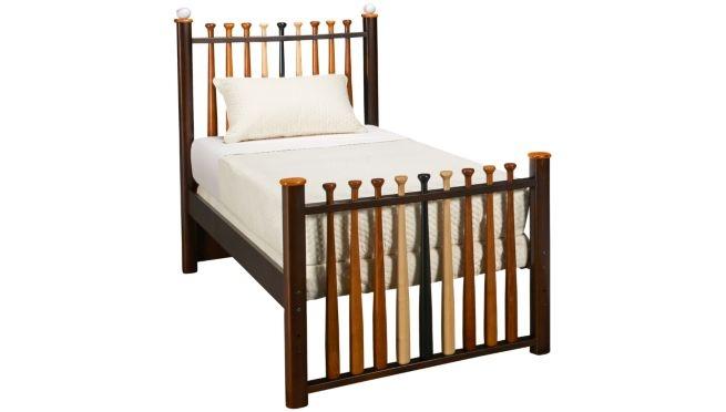 Bed made out of baseball bats : Bentley : Pinterest : Baseball Bed, Baseball and Kid Beds