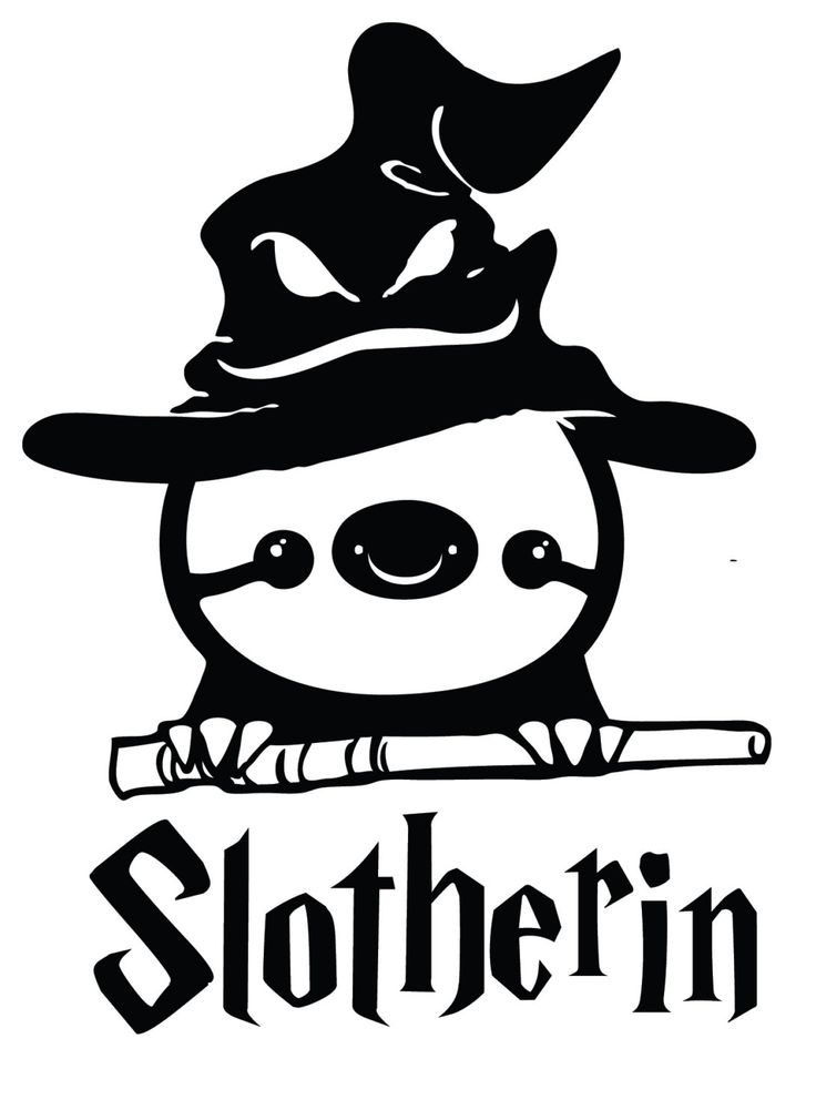funny harry potter sloth slotherin decal sticker by