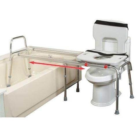 Eagle Health XX Long Toilet to Tub Transfer Bench with Cut-Out Seat - XX Long Toilet to Tub Transfer Bench with Cut-Out Seat ,081514629