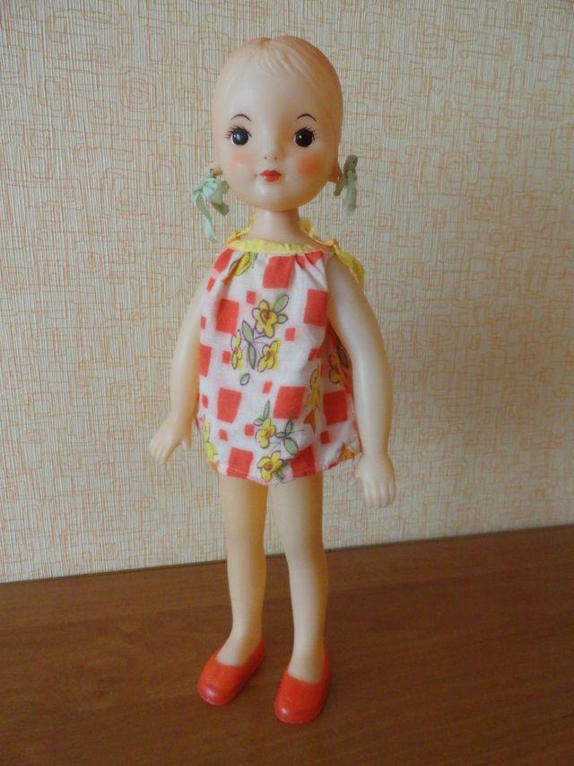 Редкая кукла Днепропетровской фабрики (УССР), клеймо с котёнком.  Рост 32 см, полная сохранность.