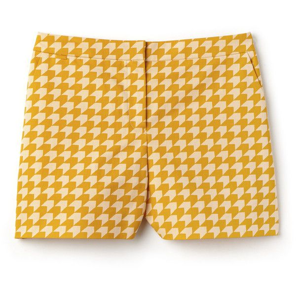 Orange Women's Bermuda Shorts in Gingham Cotton (£115) ❤ liked on Polyvore featuring shorts, gingham shorts, summer shorts, lacoste, tailored shorts and orange shorts