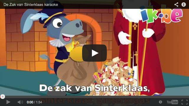 Sinterklaasliedjes - De Zak van Sinterklaas (karaokeliedje)