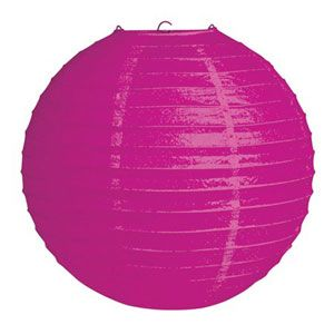20041044 - Lantern - Raspberry Pink Lantern Raspberry Pink Solid Colour (30cm) Round. Please note: approx. 14 day delivery time.