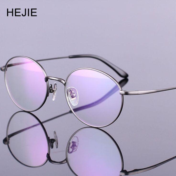 Fashion Men Women Pure Titanium Eyeglasses Frames Round Full Frame 4 Color Y1001