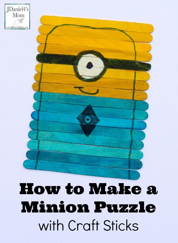 How to Make a Minion Puzzle with Craft Sticks #minions