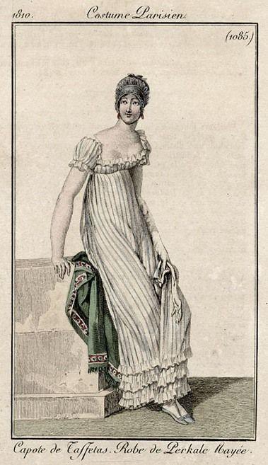 1810 Costume Parisien, stripes