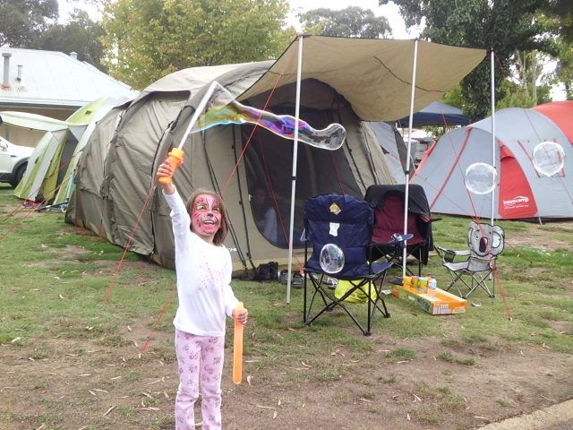 Here's one of the happy campers we had here on the weekend! #big4ballaratgoldfields #camping #happycamping