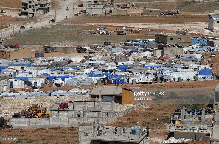 A picture taken on March 28, 2014 shows tents housing Syrian refugees in the city of Arsal in Lebanon's Bekaa valley, near the border with Syria. The number of Syrians registered as refugees in Lebanon after fleeing war in their country has surpassed one million, the UN refugee agency said on April 3, 2014.  AFP PHOTO/JOSEPH EID        (Photo credit should read JOSEPH EID/AFP/Getty Images)
