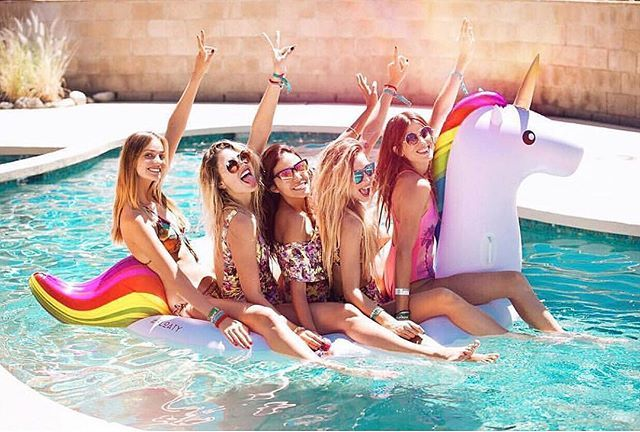 you're so magical. you need a rainbow unicorn float! this one by #floatys is 8 feet long, super soft… and you can inflate it with a hairdryer! what?! magic.