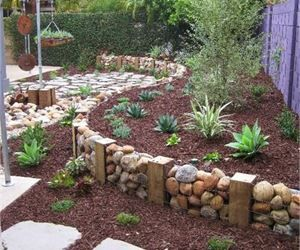retaining wall and mulching ideas