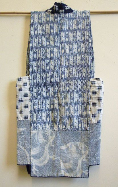"AomoriSashiko - ""This sleeveless garment–referred to as sodenashi or dogi–is from Aomori Prefecture in the far northeastern region of Honshu, which is a remote and rural area."""