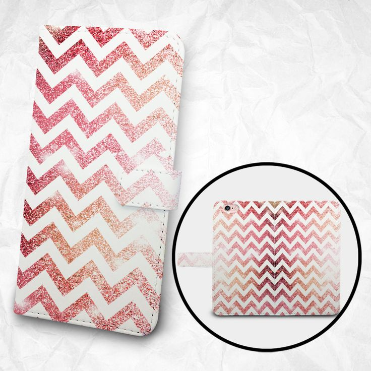 iPhone 6 6S Plus case, Samsung Galaxy S6 case Edge case Note 5 4 3 2 PU leather flip cover Book Phone case Wallet case - Pink Chevron by BeeBeeStyle on Etsy