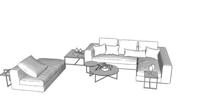 bộ sofa good - 3D Warehouse