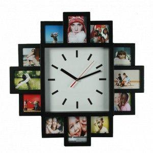 Diseña tu propio reloj con los mejores momentos de la vida gracias a este marco reloj con sitio para 12 fotografías. Un regalo original, decorativo y muy creativo con el que seguro darás la hora exacta.