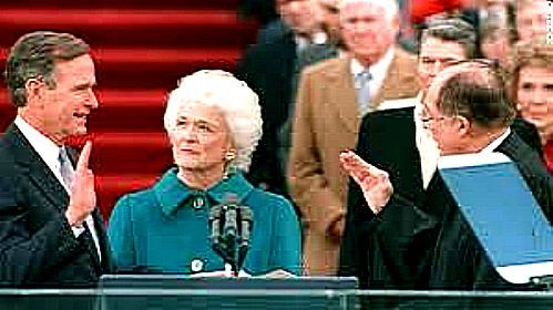BUSH TAKING OATH OF OFFICE from CHIEF JUSTICE WILLIAM REHNQUIST