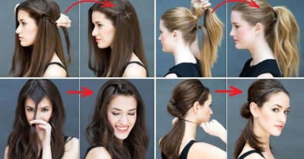 8 Easy Haistyles in 10 seconds - http://shiawomen.org/8-easy-haistyles-in-10-seconds/