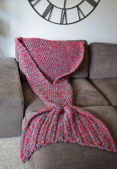tricoter une queue de sirene