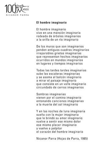 """TODOS leemos """"El hombre imaginario organizado por Consejo de la Cultura y Artes de Chile, lectura masiva del texto El hombre imaginario el día 05 de septiembre a las 12:00 hrs"""