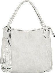 Τσάντα ώμου με διπλά λουριά σε σχέδιο πλεξούδα WK9990.A673+2