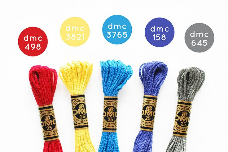 {Waterloo} DMC Floss Color Combination 498: Dark Red; 3821: Straw; 3765: Very Dark Peacock Blue; 158: Medium Very Dark Cornflower Blue; 645: Very Dark Beaver Grey