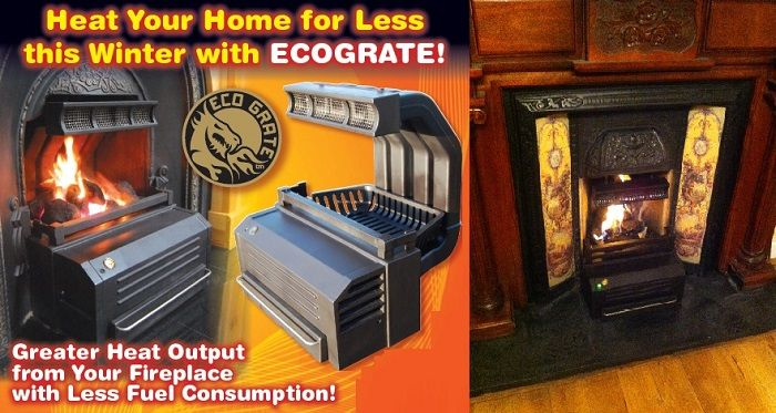 #EcoGrate is not only an #Eco-Friendly #FireplaceAppliance but also improves the heat producing capacity of open fire more then 6 times. Read more ....