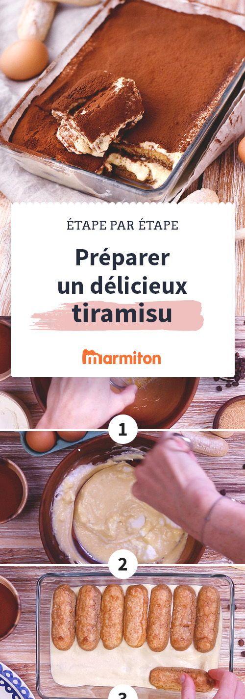 Préparez facilement un délicieux tiramisu avec notre recette en pas-à-pas. La fameuse recette italienne n'aura bientôt plus de secrets pour vous : à vous le tiramisu plein de mascarpone :) #marmiton #recette #italie #mascarpone #tiramisu #dessert