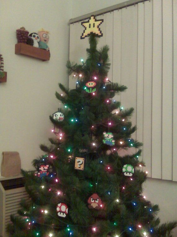Make your home a happy home for the holidays with this Super Mario Bros. Star Tree Topper! Star Tree Topper has a STRONG support hot glued in the