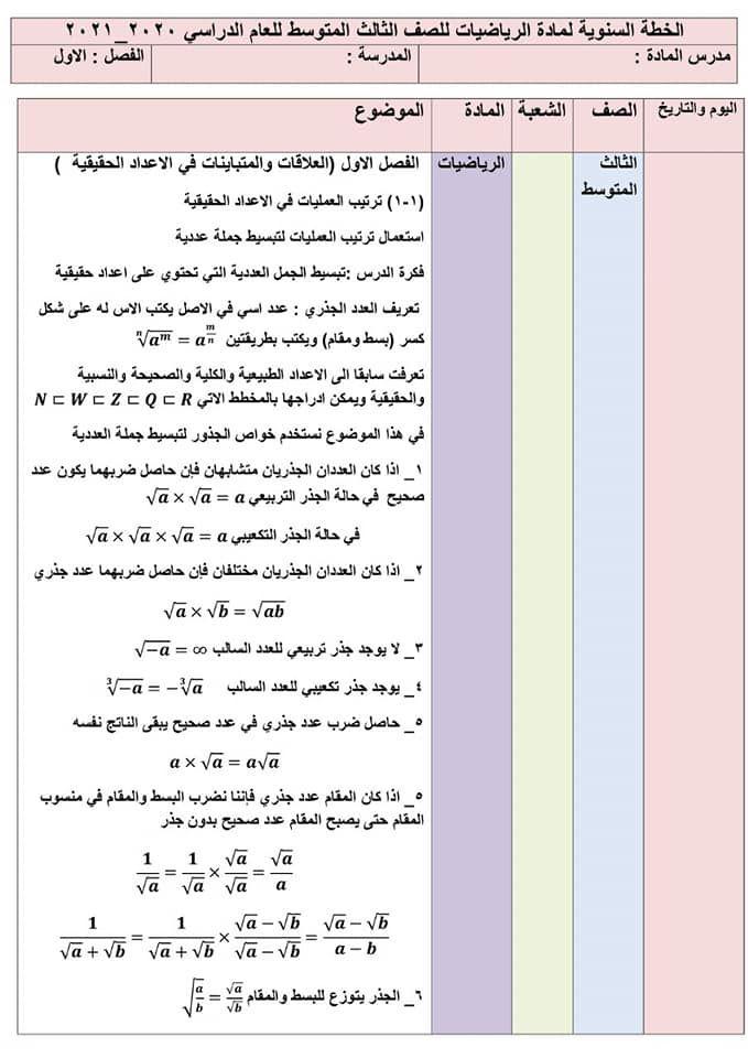 خطة يومية رياضيات للصف الثالث المتوسط الفصل الأول كاملة اهلا بكم متابعي موقع وقناة الاستاذ احمد مهدي شلال في هذا الموضوع سنعرض لكم شرح ك In 2021 Blog Blog Posts Post