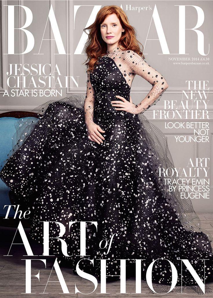Jessica Chastain for Harper's Bazaar UK November 2014