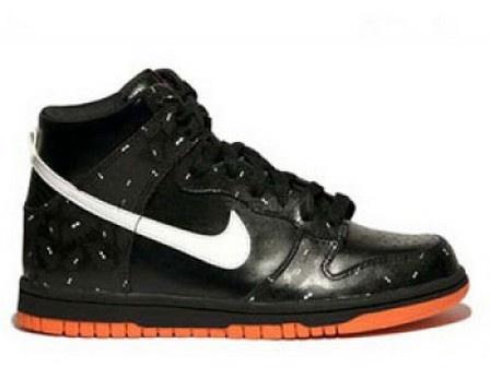Nike Unisex's Lifestyle Shoes Court Force Premium (Halloween) Black / White-Orange Blaze