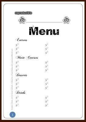 Blank Restaurant Menu Template 2018 Printables And Menu With Blank