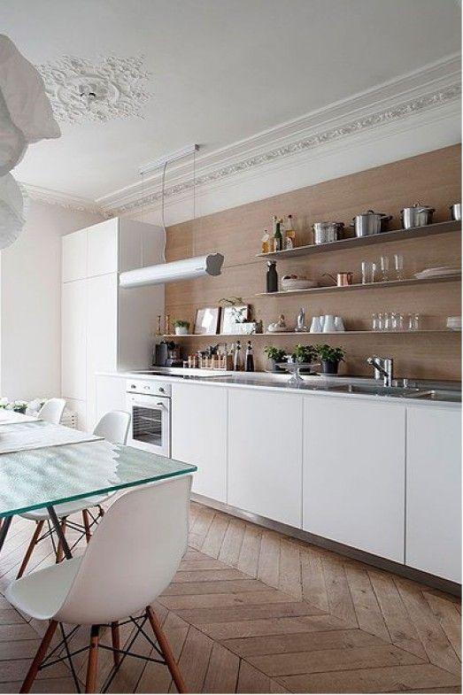cuisine parquet mat peinture beige cuisine - Cuisine Peinte En Beige