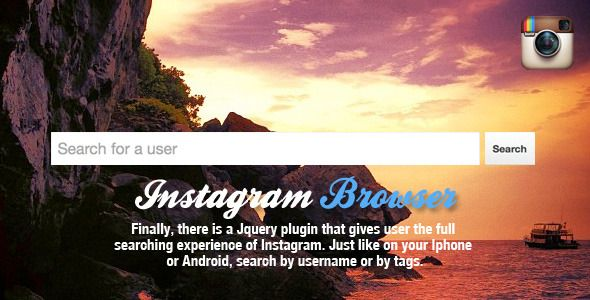 Jquery Instagram Browser