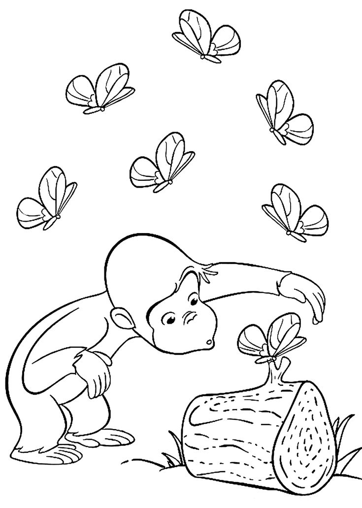 Curious George Coloring Pages Free Online Printable Sheets For Kids Get The Latest Images Favorite
