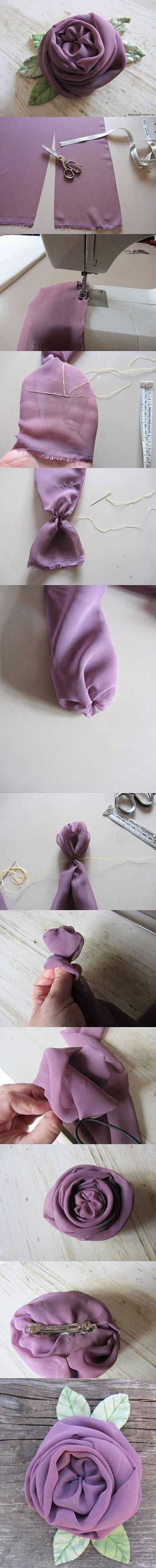 This DIY Flower tutorial shows you how to make a chiffon flower. Lovely, elegant.