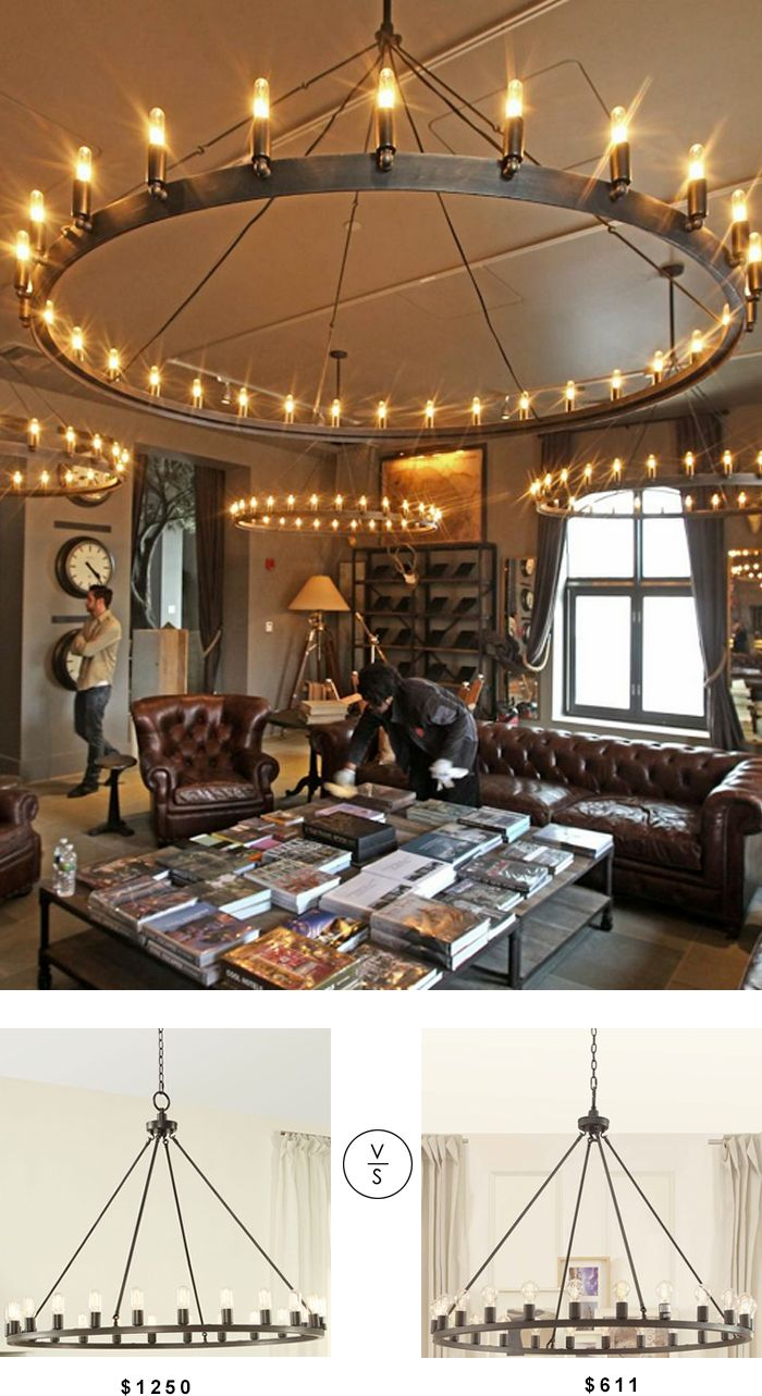 Copy Cat Chic: Restoration Hardware Camino Vintage Candelabra Chandelier for less