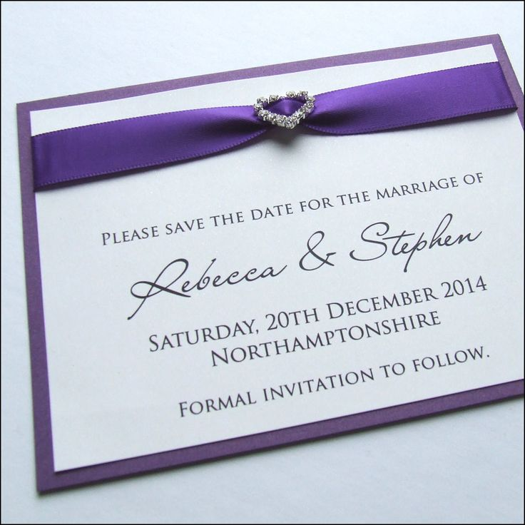 Diamante Buckle Save the Date Card