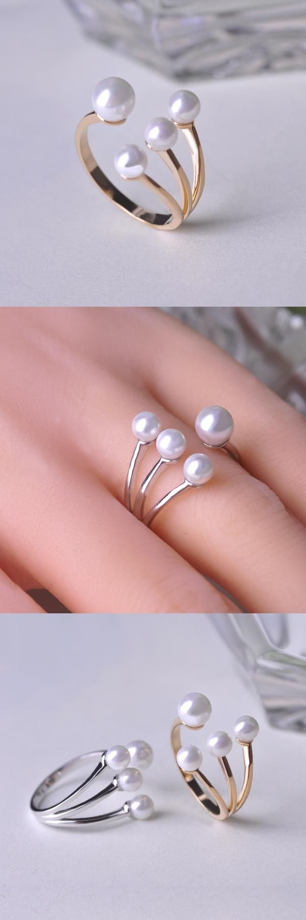 [Visit to Buy] 2015 Irregular Couple Rings Adjustable Claws Pearl Rings Anel Aneis  Anillos Masculinos Bague Femme Party Accessories joias #Advertisement
