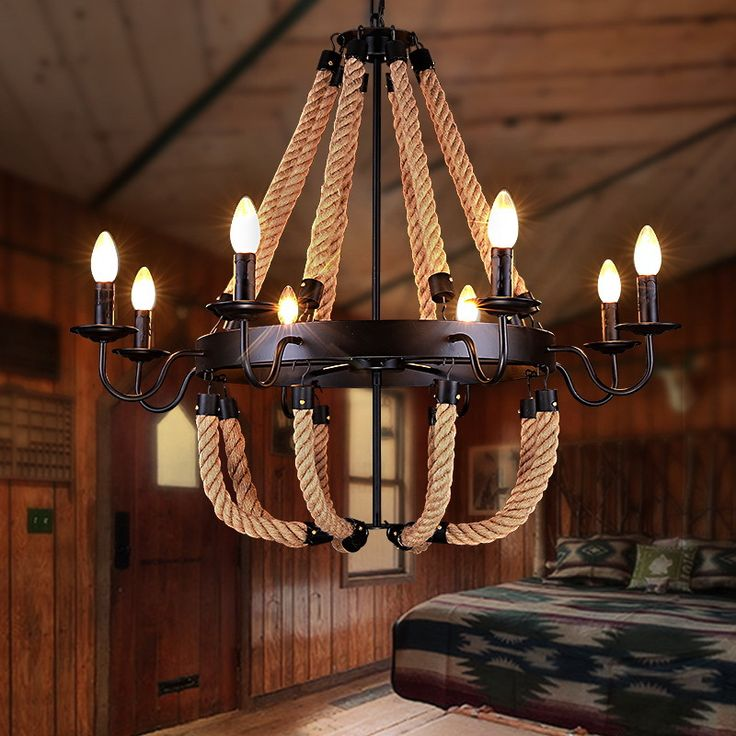 ==> [Free Shipping] Buy Best 110v 220v Loft Iron Rope Pendant Lights Lamparas Lampen Vintage Lamp Edison Bulb Light Fixture Lampadario Moderno Paralume 22 Online with LOWEST Price | 32717945117